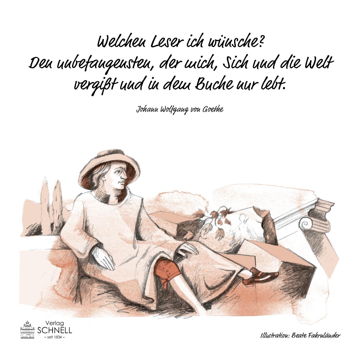 Leinwand Goethe In Italien